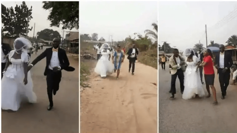 Bride runs away from wedding venue after after finding out her fiancé is a taxi driver