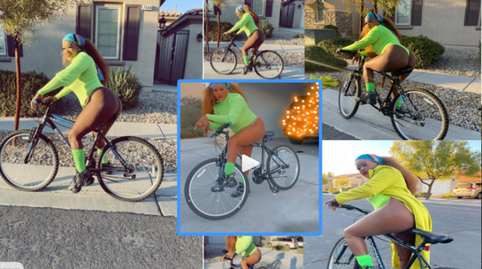 Don Zella displays Chic Fall Style during a Bike Ride, stuns online in-laws