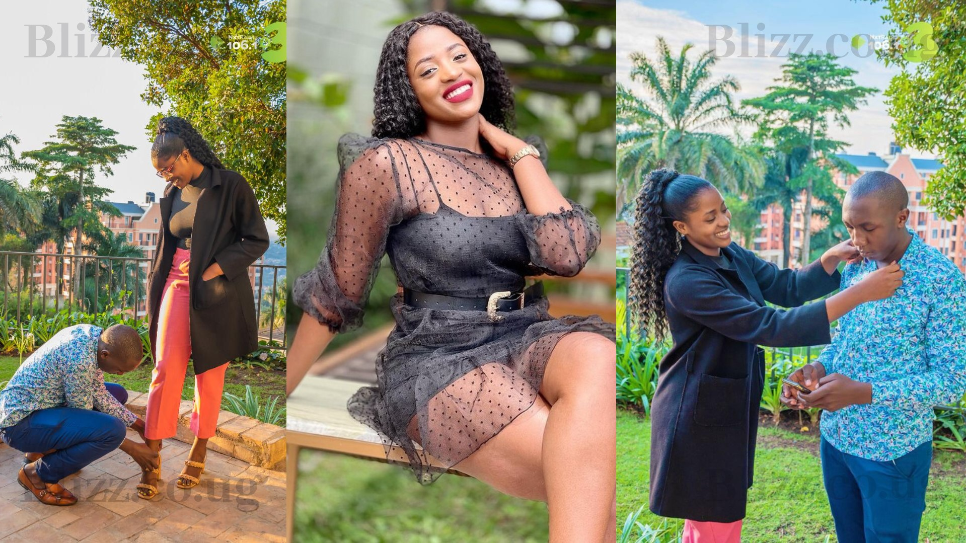 NBS TV's Kawalya Isaac Kayz Reportedly Chewing Sanyuka TV's Mildred Tracy, Intimate Photos