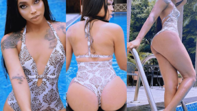 Cross-dresser, Jay Boogie showcases his 'growing boobs' and curves in swimsuit photos