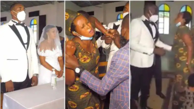 Angry wife storms husbands wedding with children, disrupts ceremony at Apostolic church- Watch