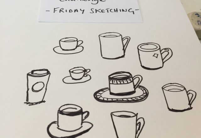 Five-minute sketch: cups