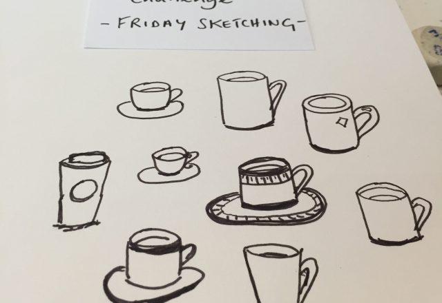 Five-minute sketch: cups