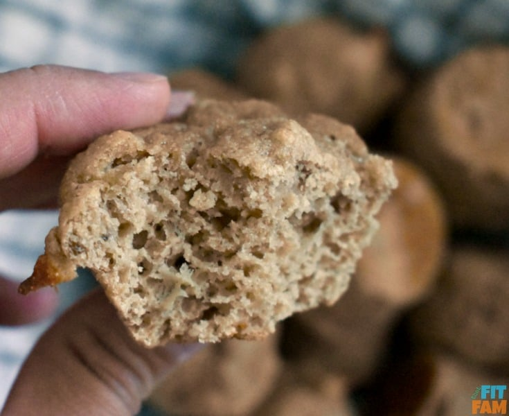 healthy banana muffins are so moist and yummy! perfect on the go breakfast! my whole family LOVES them!