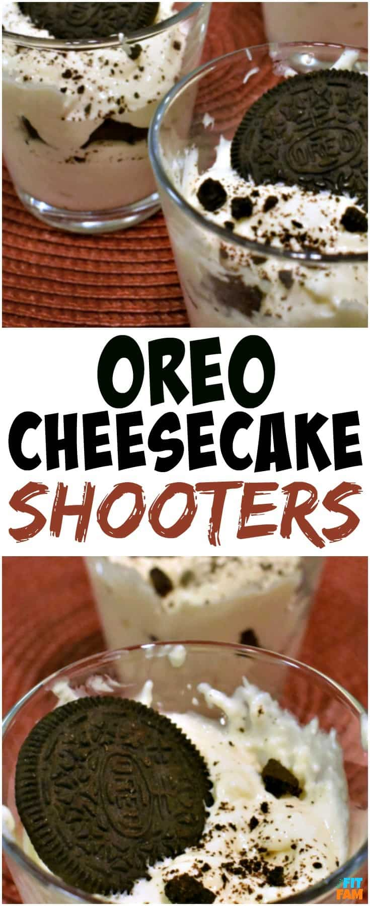 these low carb oreo cheesecake shooters are perfect for a holiday party or just a night when you want to indulge without ruining your diet. They are IIFYM friendly and high protein! Such a great dessert!