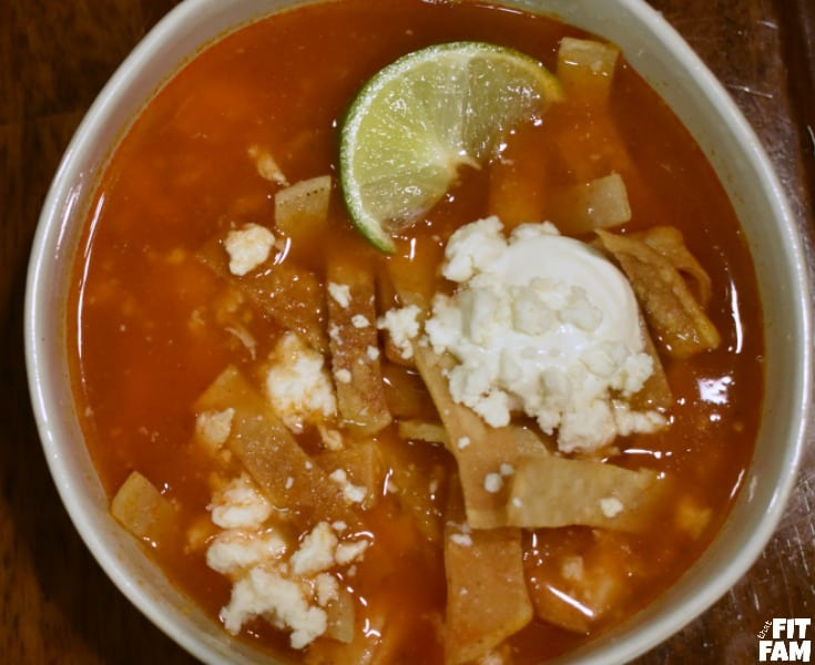 Turkey breast tortilla soup