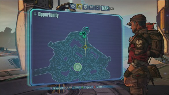 An example of a map in Borderlands 2