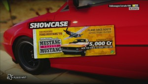 Forza Horizon mustang vs mustang title screen