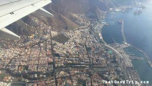 Buscamos o vôo e voamos a Tenerife