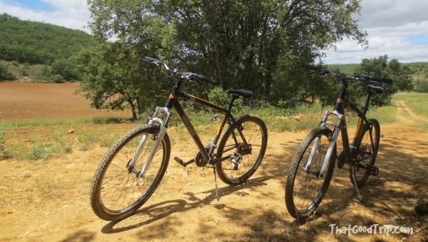 Bicicletas no campo em Guadalajara