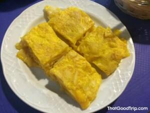 A famosa tortilha de batata de Betanzos!