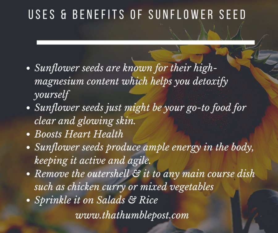 use of sunflower seed for detoxify and glowing skin