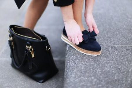 Shoes with bow | maritime look with bows | that kind of style