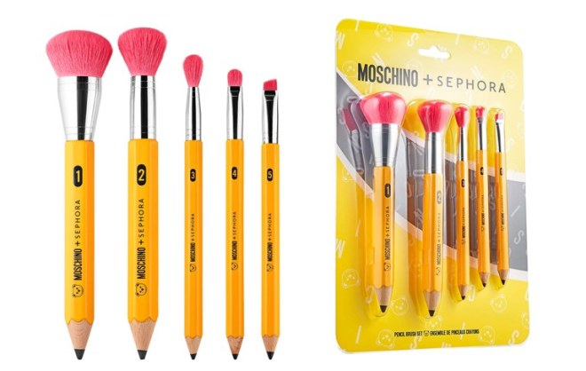 Sephora x Moschino pencil brush set
