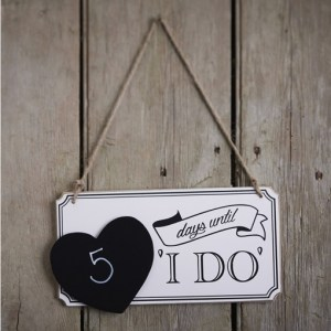 Vintage Affair Countdown I Do Sign
