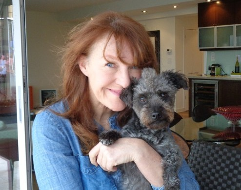 Janine and Dwight the poodle mix