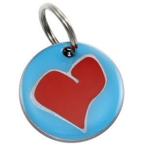Unique heart tag from dogIDs - Info to put on a dog's ID tags