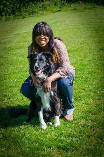 Kimberly and her dog Rodrigo