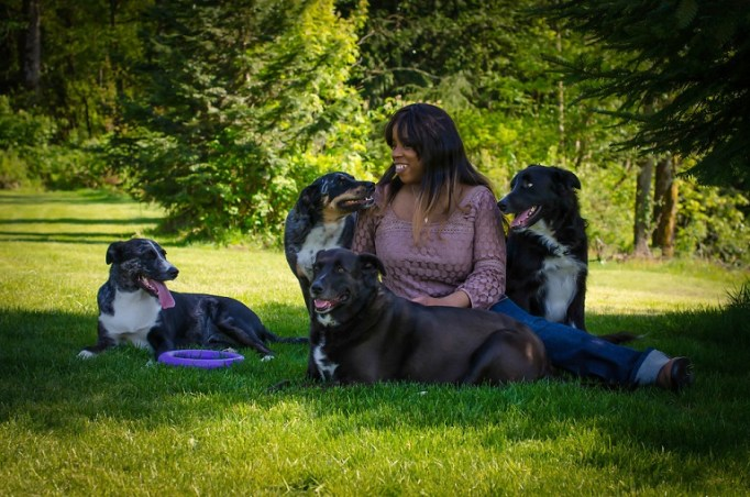Kimberly and her dogs