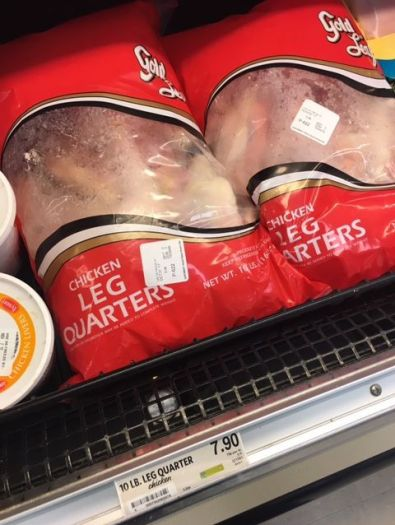 Affordable raw meaty bones - Chicken leg quarters