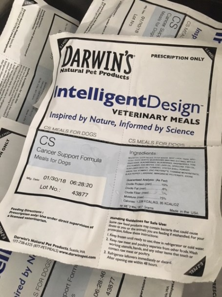 Darwin's raw dog food cancer support