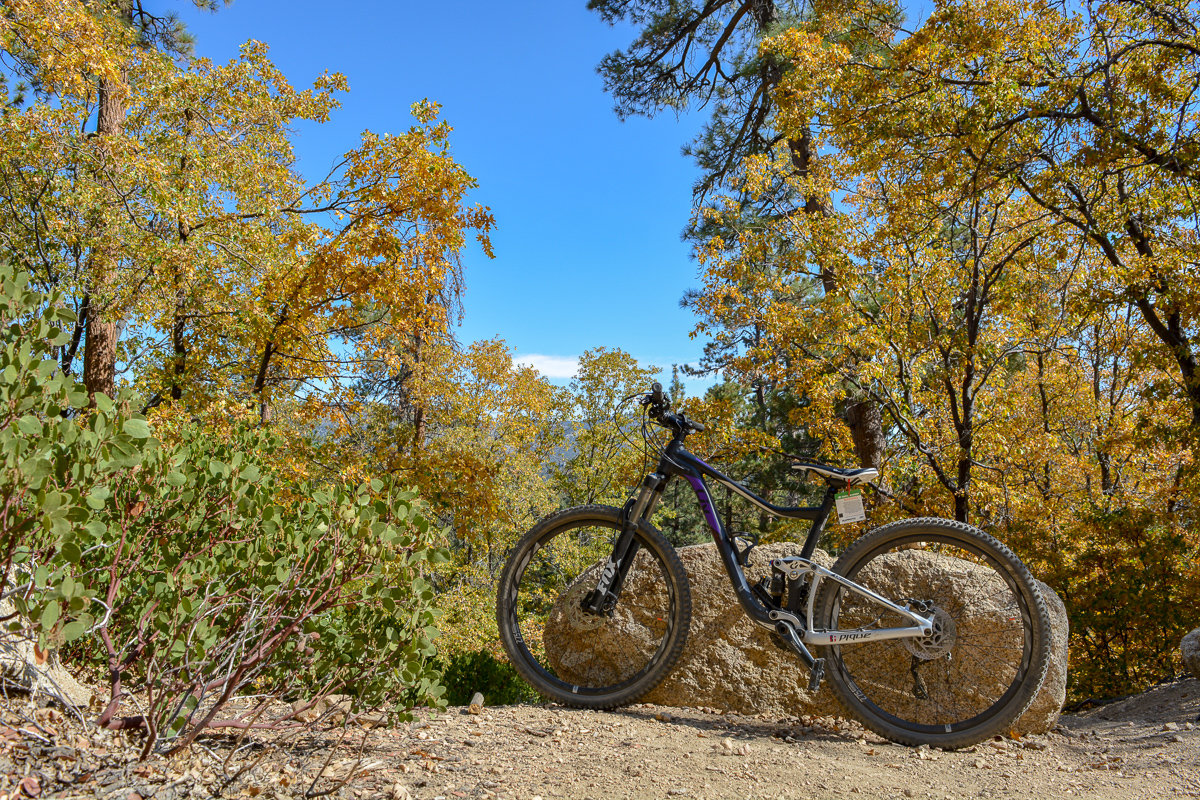 Bike on the trail at Snow Summit in Big Bear Lake