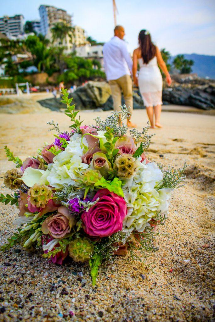 Puerto Vallarta wedding couple on the beach