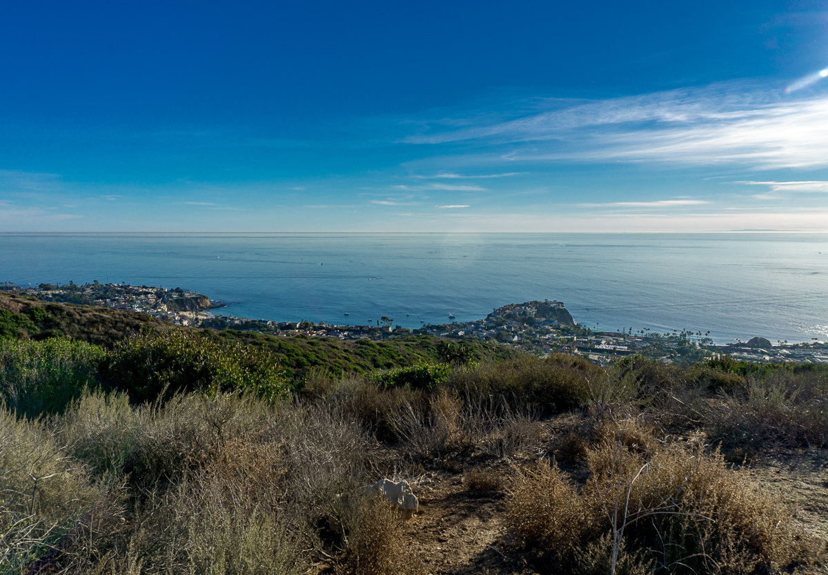 Overlooking Laguna Beach from Crystal Cove State Park hiking trail