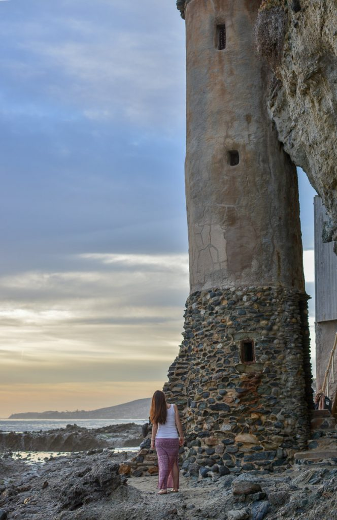 The Pirate Tower on Victoria Beach in Laguna Beach, California