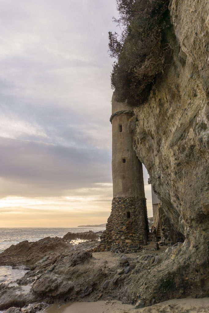 View of the Pirate Tower on Victoria Beach