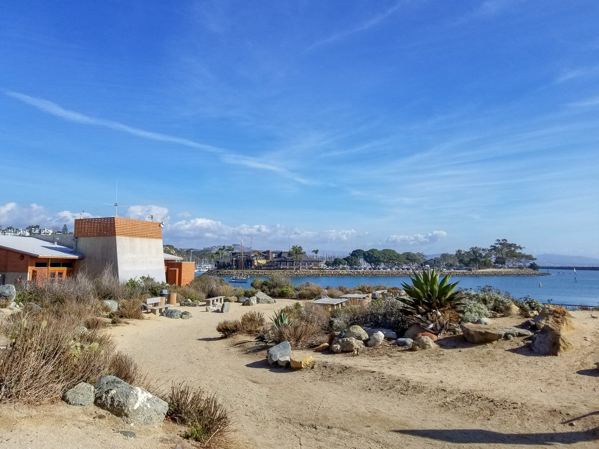 Behind the Ocean Institute in Dana Point