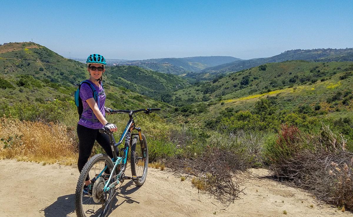 Mountain biking in Orange County, California