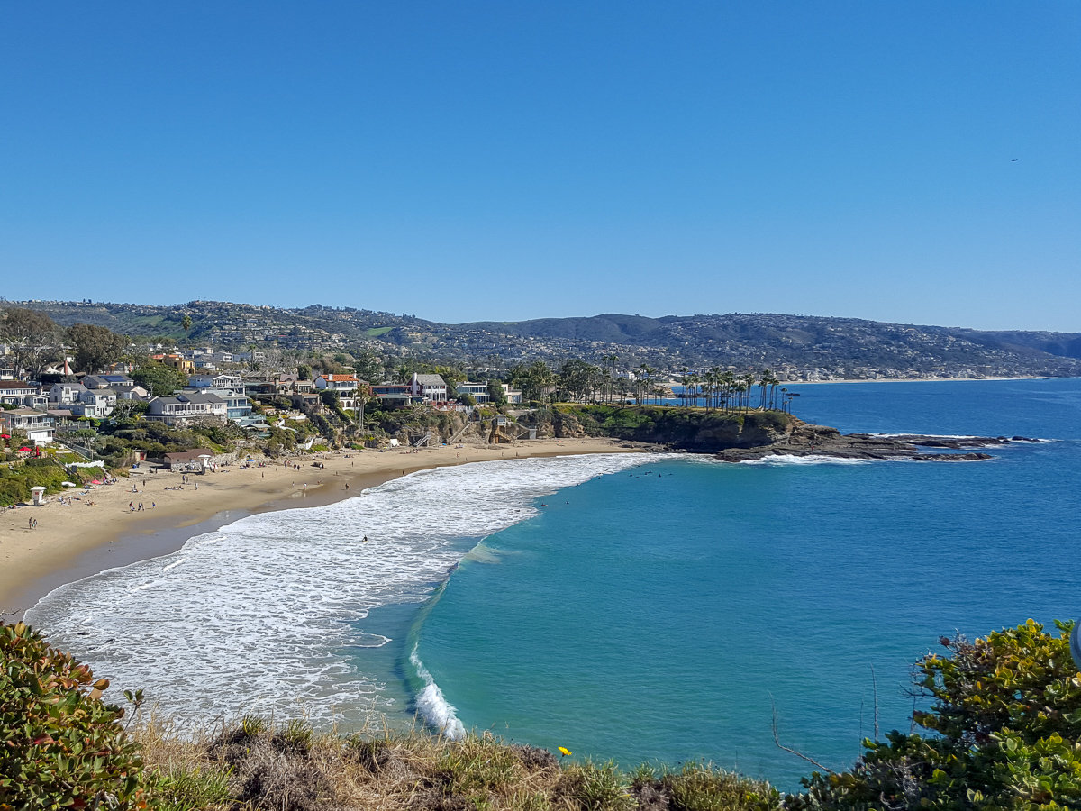 Crescent Bay in Laguna Beach, California