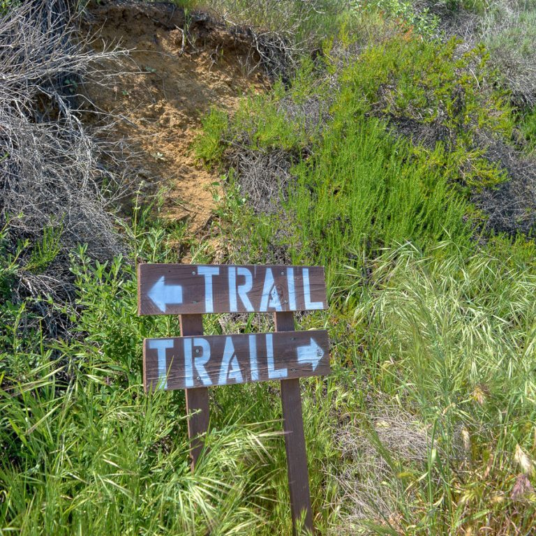 Trail sign in Laguna Coast Wilderness Park
