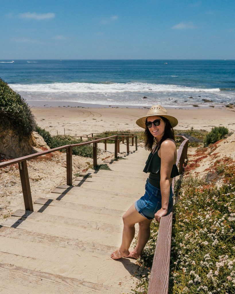 Stairway to the beach in Crystal Cove State Park