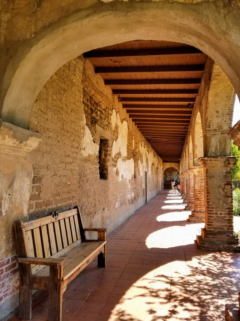 Hallway at the Mission San Juan Capistrano