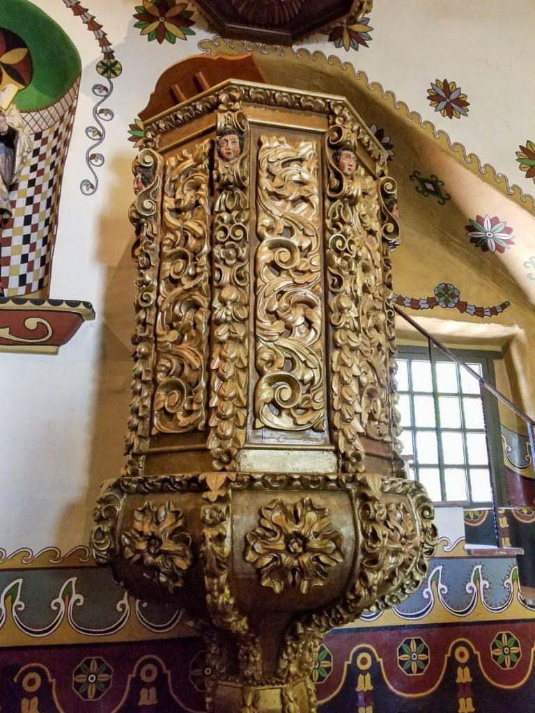 Details inside the Serra Chapel