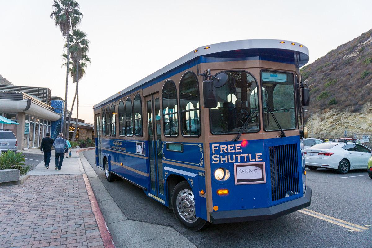 Free Laguna Beach shuttle