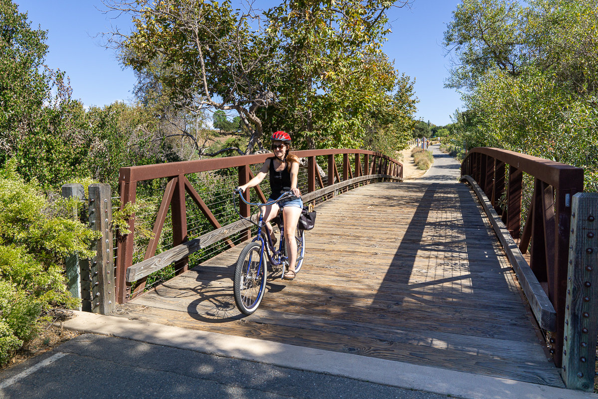 Bike trail in Irvine, California