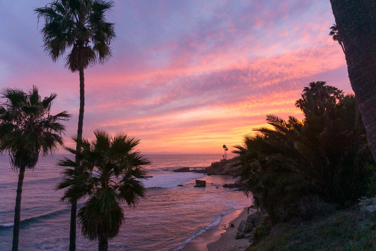 Another amazing sunset in Heisler Park, Laguna Beach, California