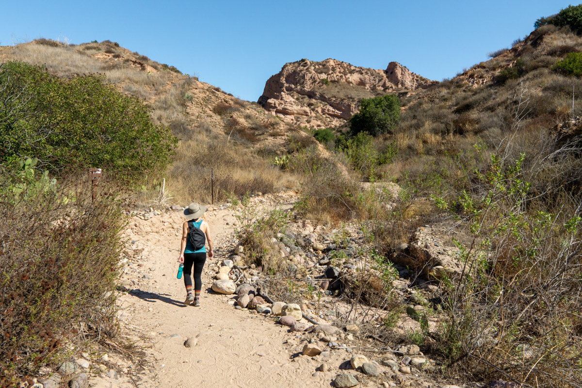 hiking in whiting ranch wilderness park