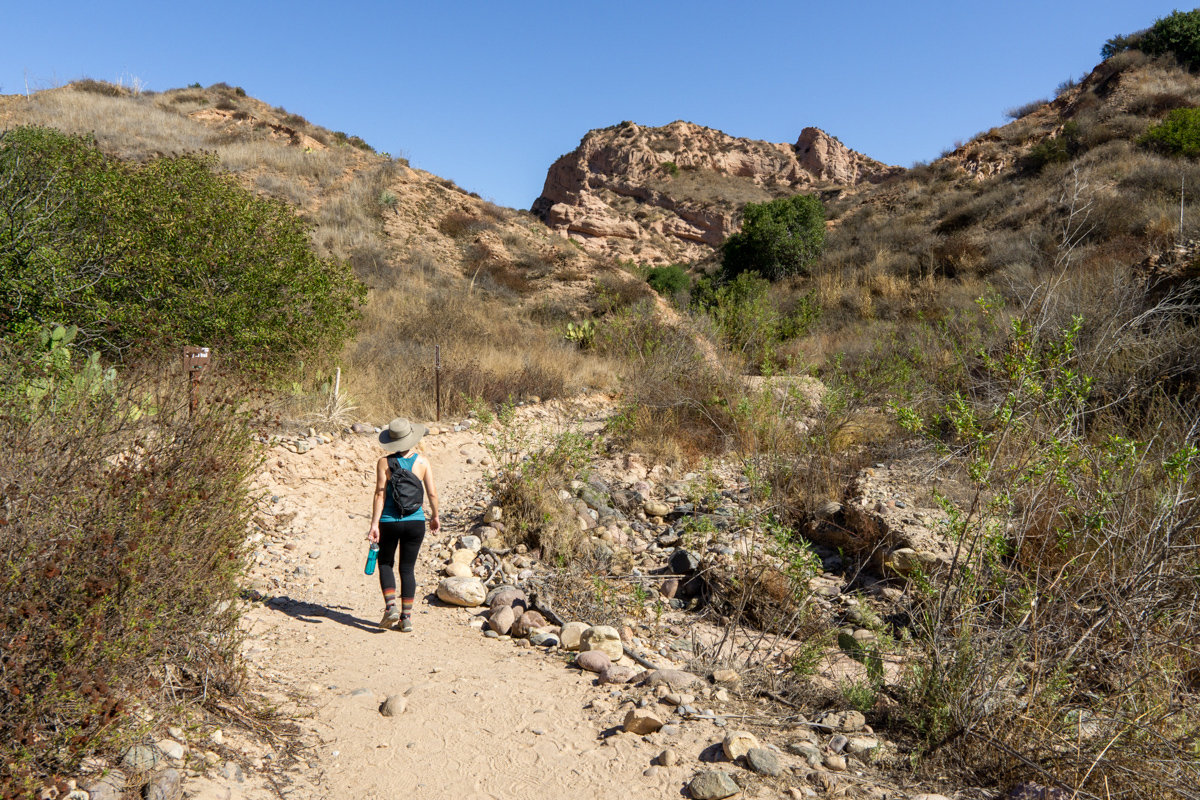 Hiking Red Rock Canyon Trail in Whiting Ranch Wilderness Park