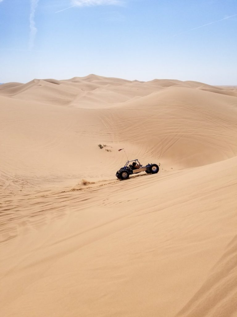 Dune Buggy riding through the Imperial Sand Dunes