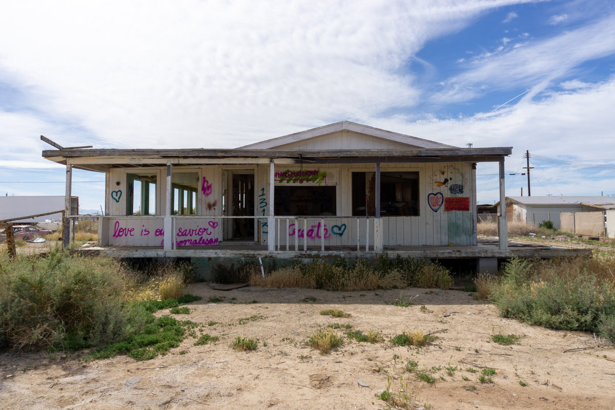 Abandonded house in the Salton Sea area