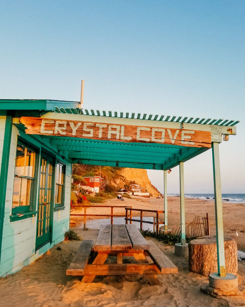 Beach shack in Crystal Cove State Park