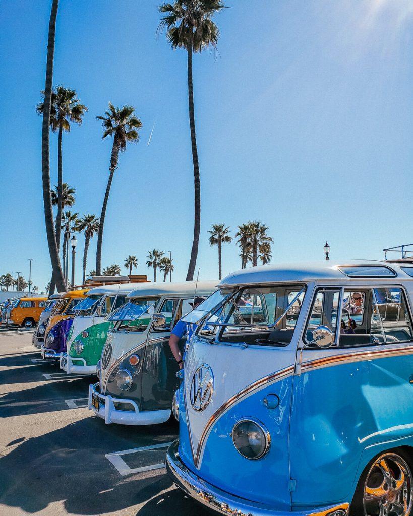 VW bus event in Huntington Beach