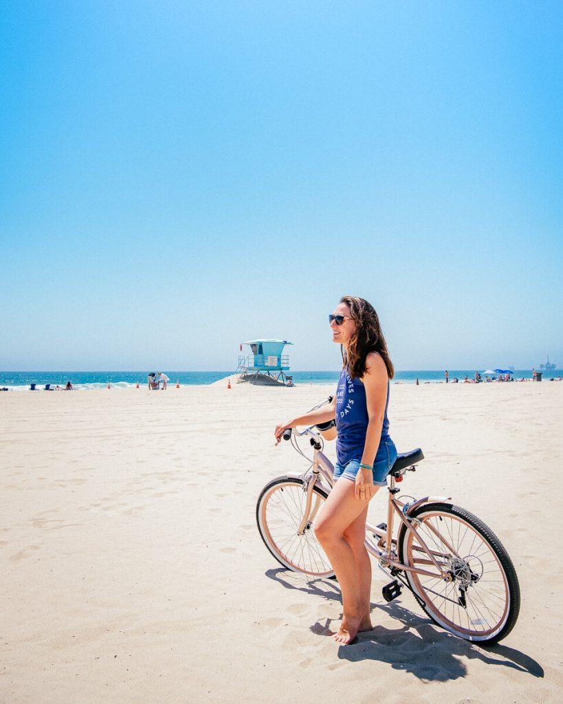 Biking in Huntington Beach