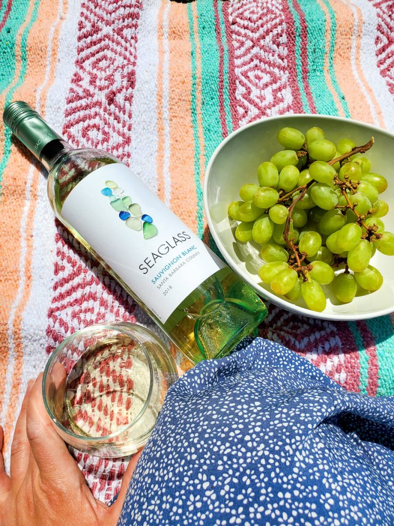 A picnic in the park with California's Seaglass wine