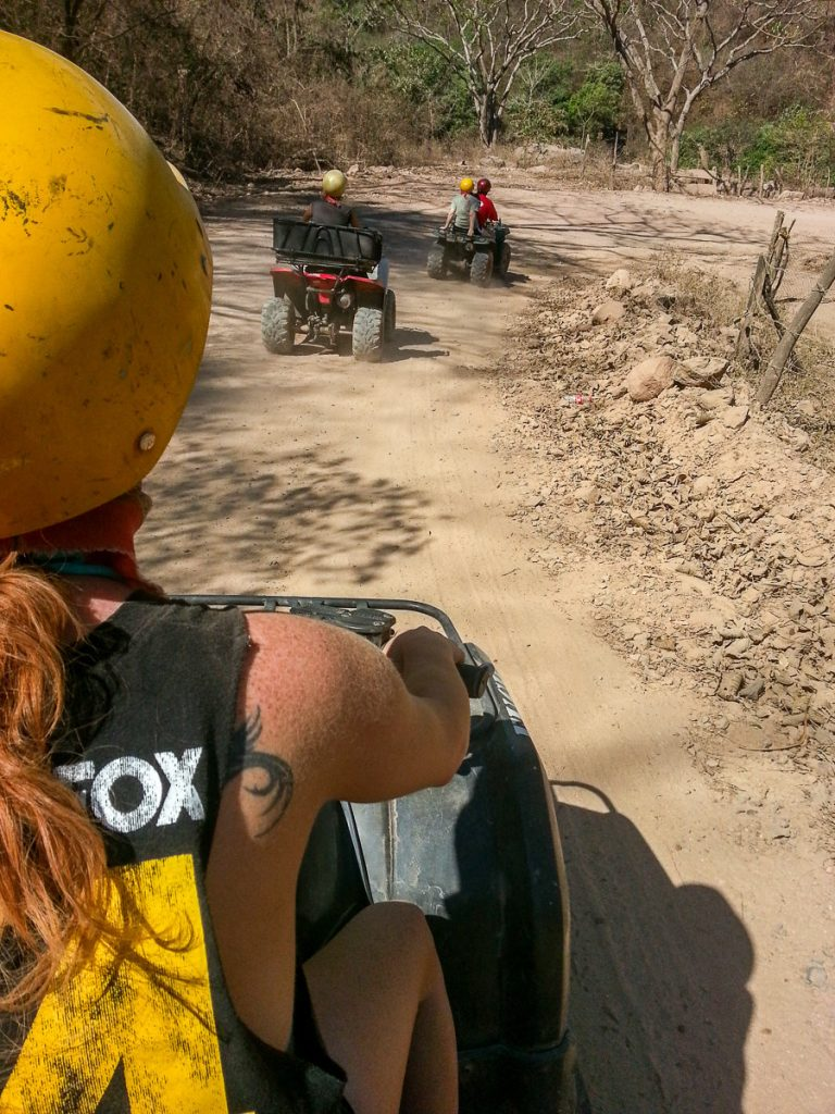On an ATV tour during a trip to Puerto Vallarta