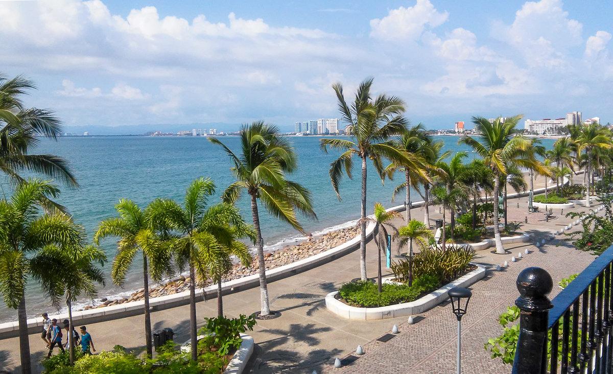 The Malecon boardwalk in Puerto Vallarta